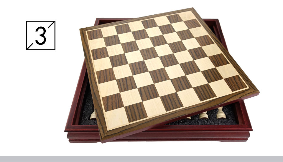 New Pattern Chess Pieces Wood Wood Coffee Table Professional Chess ...