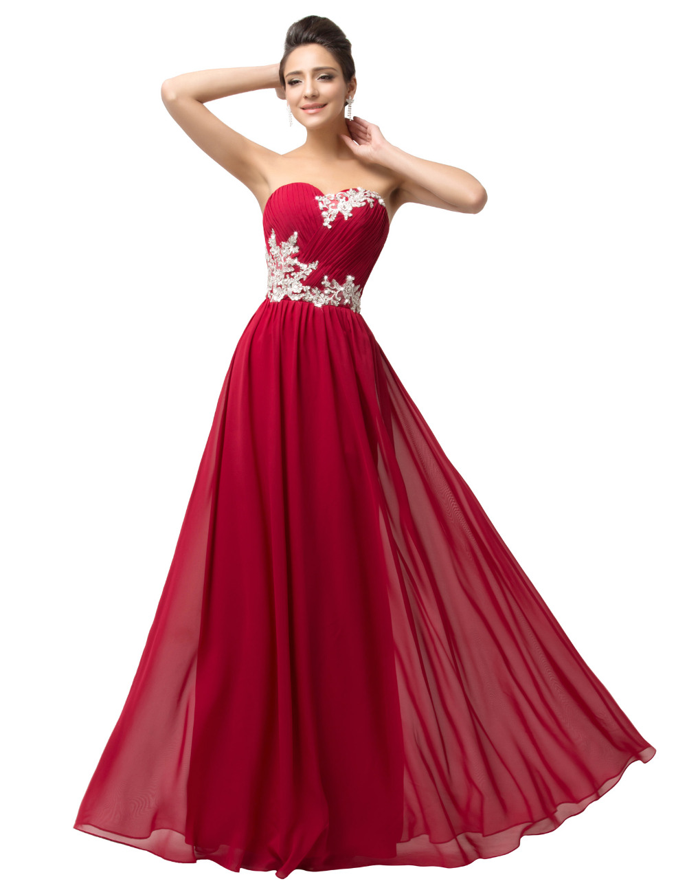 Popular Long Red Strapless Prom Dresses-Buy Cheap Long Red ...