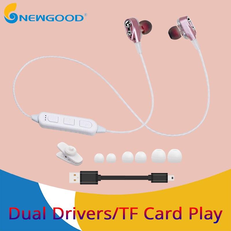 Stereo bluetooth headset wireless headphone bluetooth earphone wireless headphones sports bass support TF card play with mic