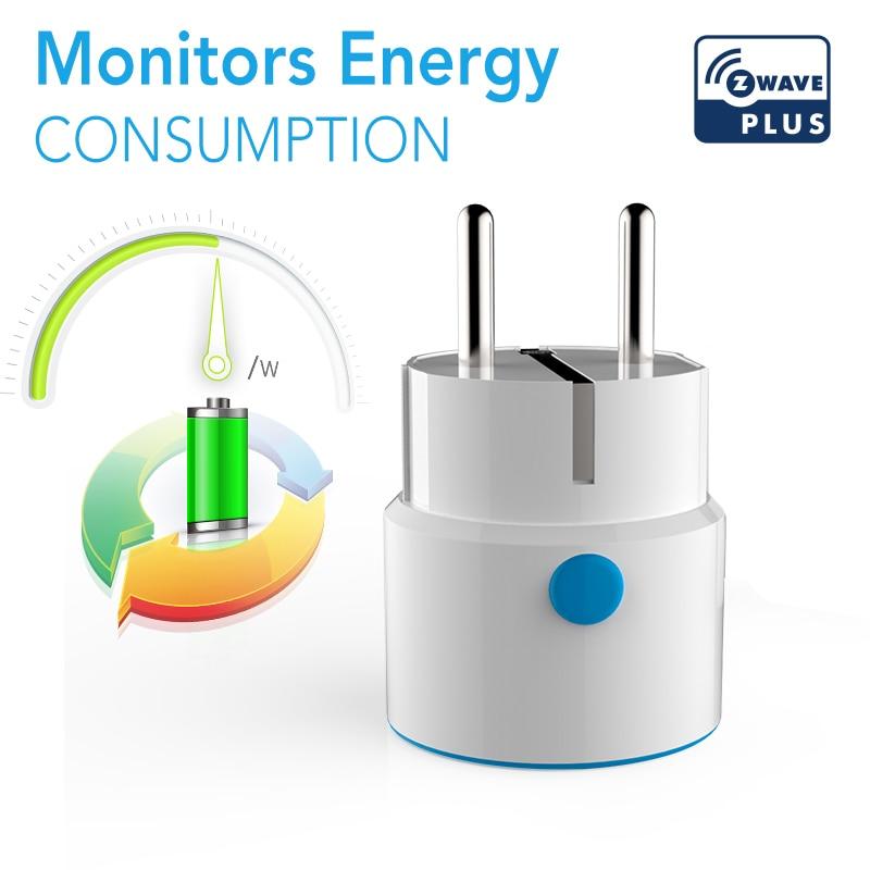 NEO COOLCAM Z-wave Plus MINI Smart Power Plug Home Automation Zwave Socket,Z Wave Range Extender Works With Google Home Alexa