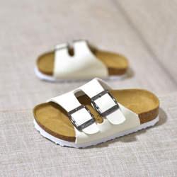 Детские сандалии для мальчиков и девочек обувь Шлепанцы Дышащая обувь на плоской подошве обувь Летние Удобные Пробковые сандалии для