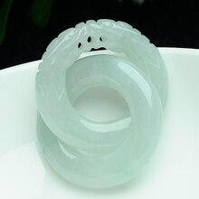 Натуральный нефритовый кулон Зодиак Дракон нефрит Shuanglong кольцо велосипедная подвеска крепится счастье карьера лучшее счастье
