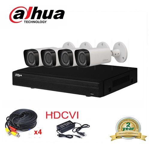 2016 New Dahua HCVR7104H-S2  System 2.0MP 4Ch HDCVI DVR Kit + Dahua Smart IR-Bullet CVI Camera HAC-HFW2220R-Z IP67 casio ef 500d 1a