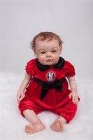 20 дюймов новорожденный Возрожденный ребенок кукла мягкий силиконовый высокого класса ручной рисунок bebe милые дети подарки игровой дом кук
