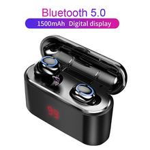 Q32 Dual U-type TWS Bluetooth 5.0 Earphones With Digital Display Charging Case Power Bank Wireless Headset Earbuds
