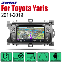 ZaiXi Auto DVD Player GPS Navigation For Toyota Yaris 2011~2019 Car Android Multimedia System Screen Radio Stereo