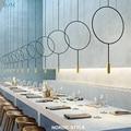 Скандинавский дизайнер  креативный круговой подвесной светильник  постмодерн  металлический подвесной светильник для ресторана  лампа для...