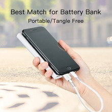 Snowkids USB Cable for iPhone X 8 7 6 5 XR XsMax Short for Battery Bank Power Bank 20cm Portable with Optional Charger added on