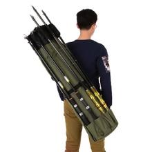 123*34cm Canvas Fishing Bag Outdoor Foldable Fishing Rod Shoulder Bags Fishing Pole Storage Bag Case Fishing Tackle Tool Pesca
