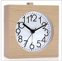 Lazy bedroom Bedside Alarm Clock snooze fashion creative personality desk handmade wooden clock