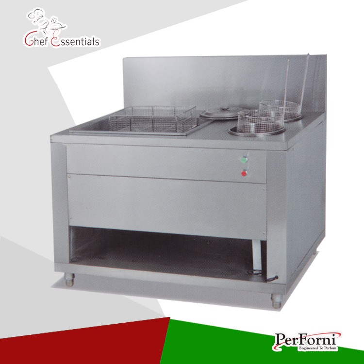 PKJG-GU1200 Fast Food Equipment for Commercial Manual Breading Table fast food leisure fast food equipment stainless steel gas fryer 3l spanish churro maker machine