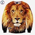 Mr.1991INC Novas hoodies para homens/mulheres camisolas 3d impressão leão animais de manga longa linda pullovers hoodies ocasionais magros