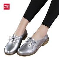 2017 New Fashion Genuine Leather Women Flats Casual Shoes Lace Up Moccasins Sapatos Femininos Sapatilhas Femininos