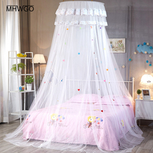 MHWGO Baby Crib Netting Baby Room Decor Mosquito Net Princess Baby Bed Children Lace Mosquito Net For Baby Room 5 Colors