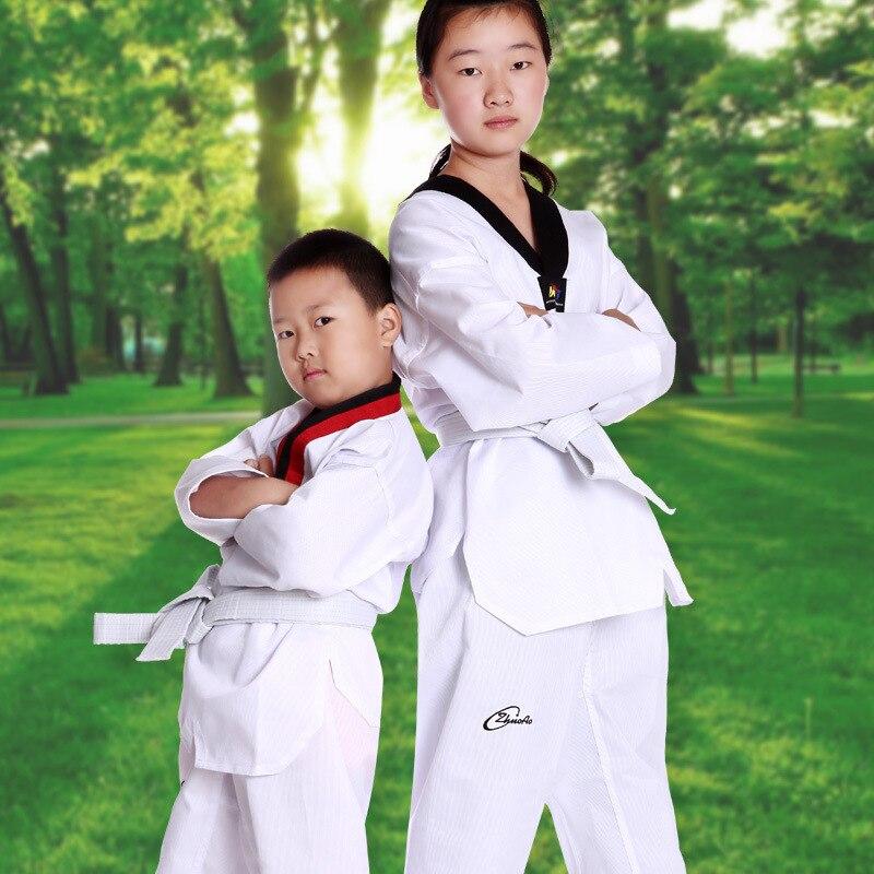 Zhuoao весна/осень Дети/взрослых Карате/тхэквондо униформа белым поясом по дзюдо добок наряды одежда 2018 DEO