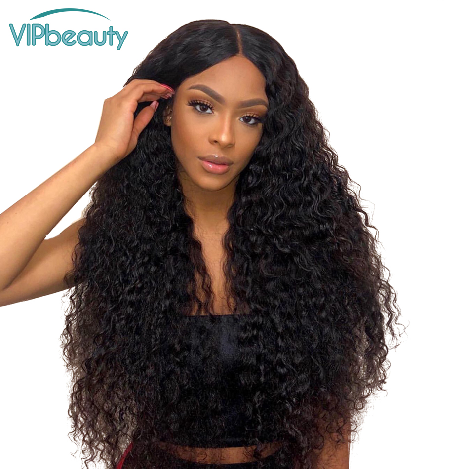 Vipbeauty 150 Pre Plucked Water Wave Lace Front Human Hair Wigs With Baby Hair Brazilian Remy