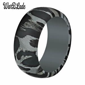 Image 2 - חדש הדפס מנומר סיליקון טבעות לגברים חתונה גומי להקות היפואלרגנית גמיש ספורט אנטיבקטריאלי סיליקון אצבע טבעת