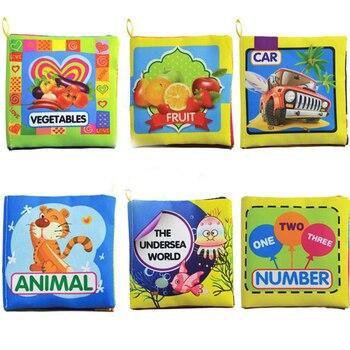 2018 мягкие Тканевые книги для маленьких мальчиков Обувь для девочек милый 0 ~ 12 месяцев Книжки Детские игрушка-погремушка кроватки ткань для ...