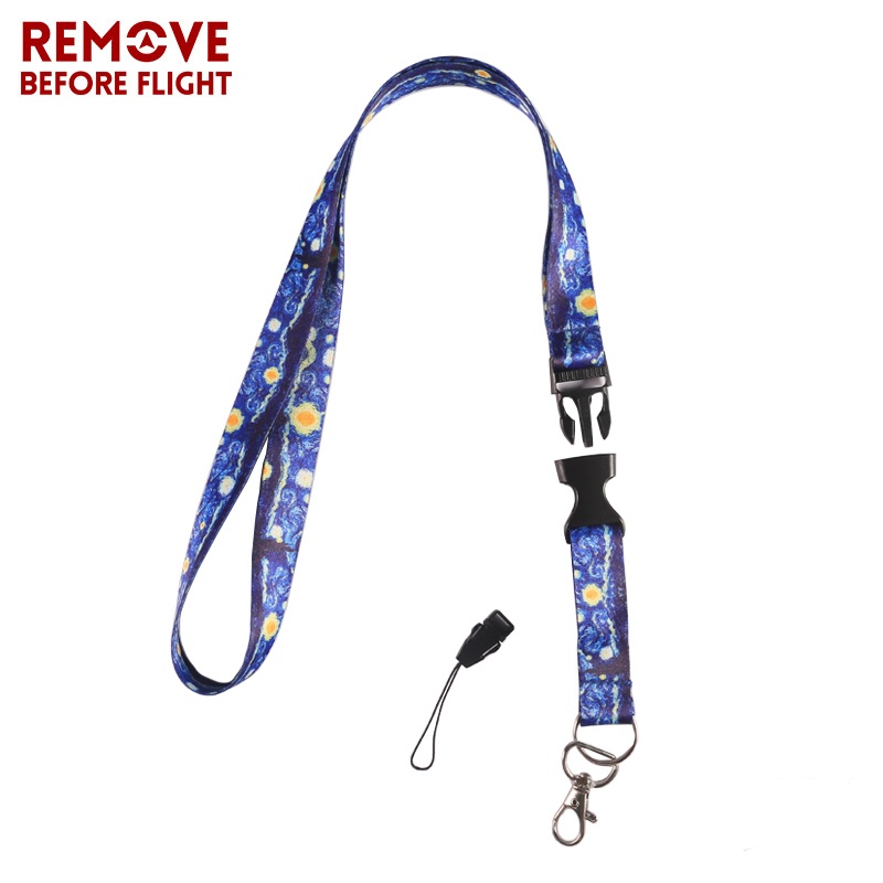 Luggage & Bags Novelty Van Gogh Starry Night Hand Chain Straps Neck Strap For Women Mini Bag Id Badge Card Wallet Key Lanyard With Keyring Orders Are Welcome.