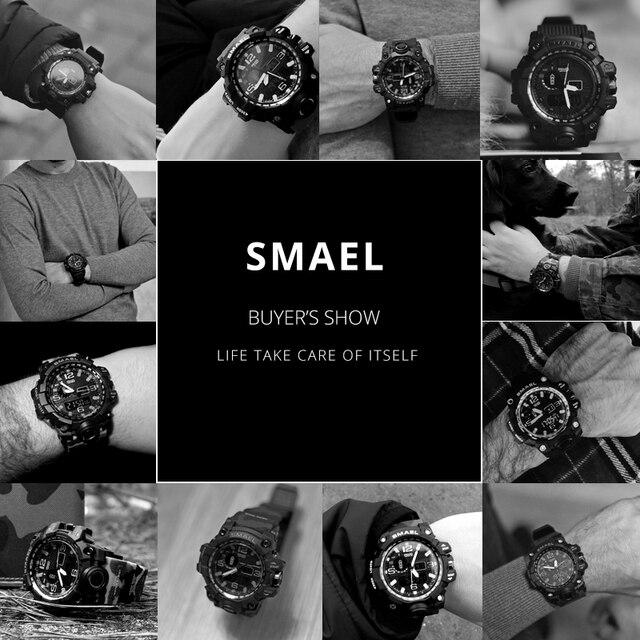Men Military Watch 50m Waterproof Wristwatch LED Quartz Clock Sport Watch Male relogios masculino 1545 Sport Watch Men S Shock 5