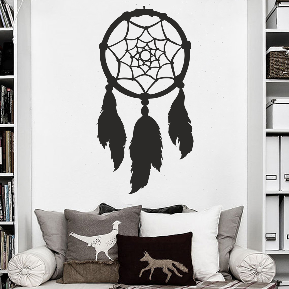 Dream Catcher Wall Decal Bedroom Decal Home Decor Dorm Decal Living Room Vinyl Wall Decal 89cm