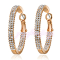 Mytys Crystal Big Hoop Earrings  Rose Gold Plated GP Women Party Gift Hot Jewelry E1023