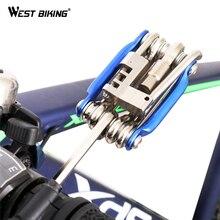 WEST BIKING, набор для велосипеда, многофункциональный, для ремонта, для горного велосипеда, для велосипедного обслуживания, набор инструментов