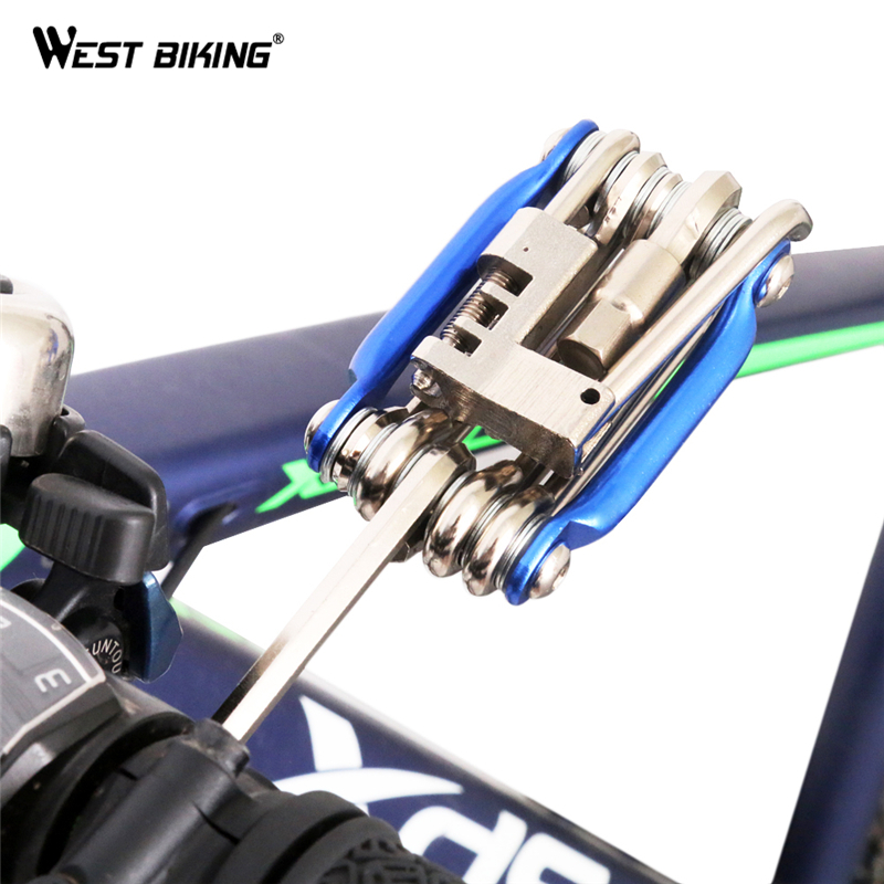 WEST BIKING Bike Multi Portable Ferramenta Kit Wrench Spanners Multifunctional Repair Mtb Bicycle Cycling Maintenance Tools Sets