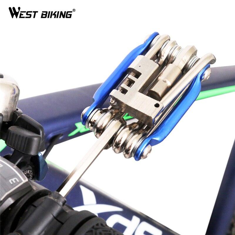WEST BIKING Da Bicicleta Multi Ferramenta Portátil Kit Chaves Chave Multifuncional Conjuntos de Ferramentas de Manutenção de Reparação Mtb Bicicleta Ciclismo