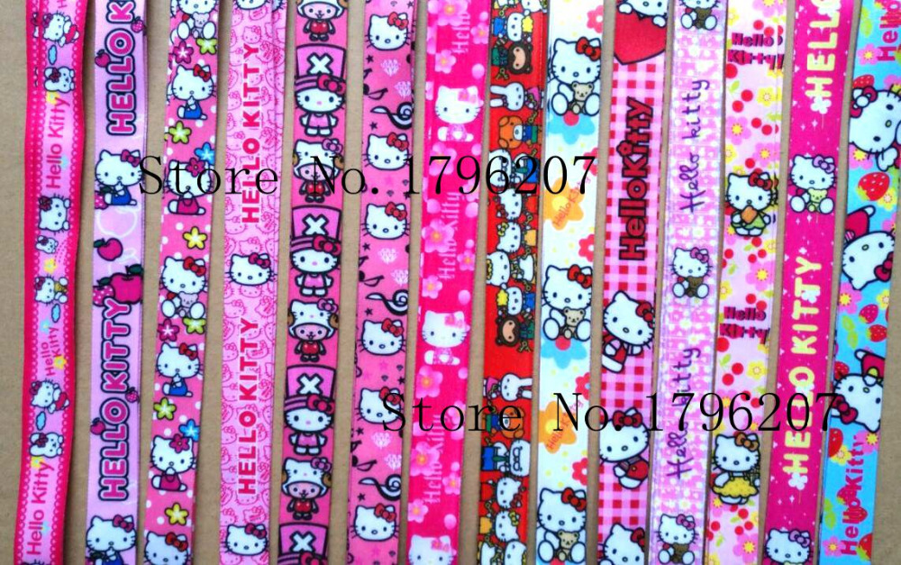 2d528f058 Aliexpress.com : Buy 10PCS Cartoon hello kitty Random Neck Strap Lanyard  Mobile Phone Charms Key Chain ID Badge Key Chains P101 from Reliable Key  Chains ...