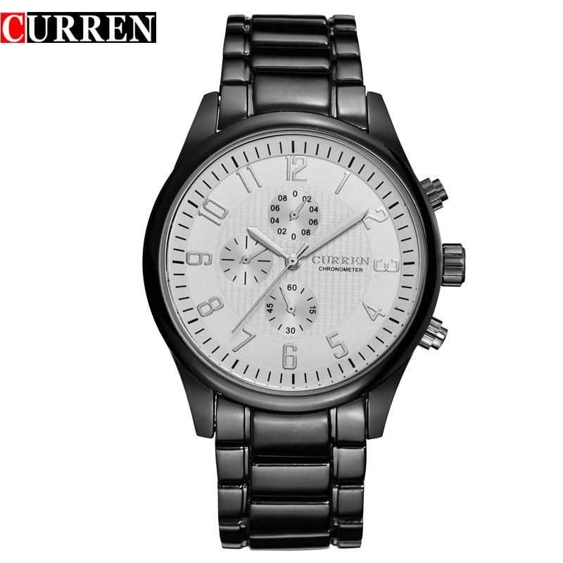 Prix pour CURREN Marque Homme Mode Casual Quartz Montres Hommes de Sport Militaire Horloge Analogique-Bracelet D'affaires Wathes Relogio Masculino, W8046