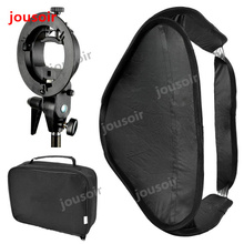 Godo x 50x50 см софтбокс-диффузор с s-тип кронштейн Bowens держатель для Студия Photo Speedlite Flash светильник CD50