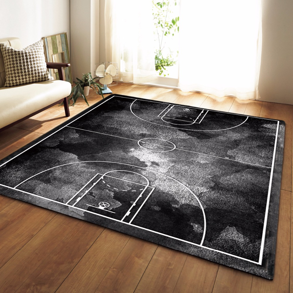 Europen Style Larger Mat Flannel Velvet Memory Foam Carpet Play Basketball Game Mats Baby Craming Bed Rugs Parlor Decor Area Rug