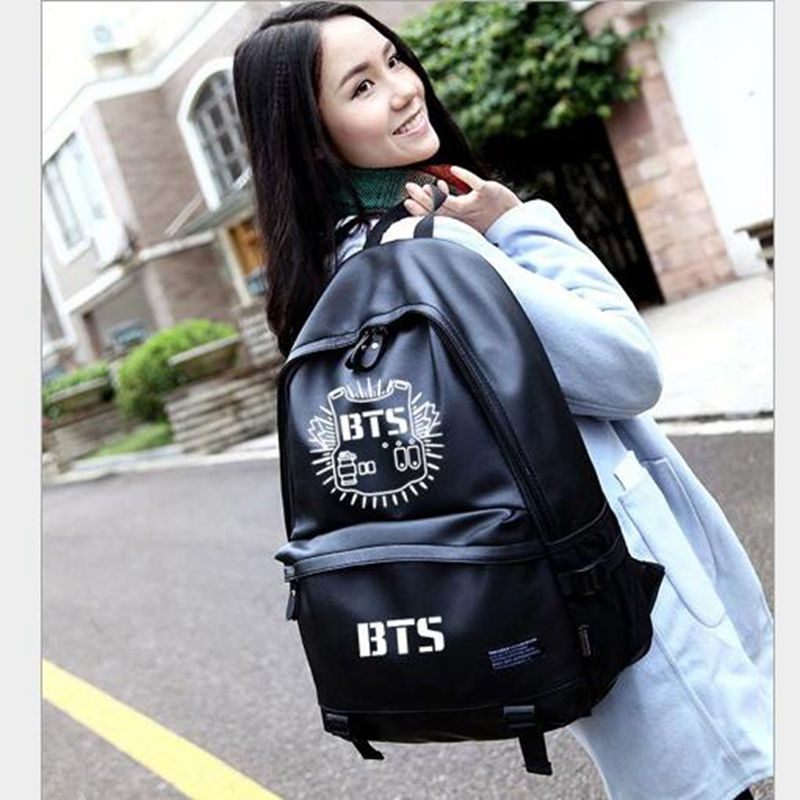Women's College Pu Backpacks Female Satchel Bts Backpack Knapsacks for Teens Bts Bagpack Summer Travel Bag;sac a dos femme 2017 сумка asics 134934 1087 bts backpack