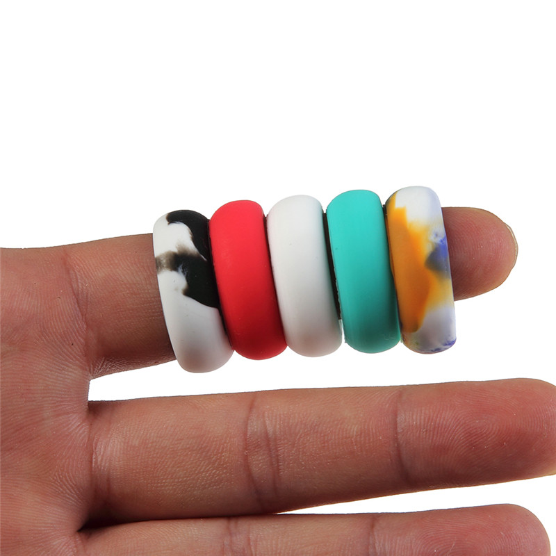 9 10 11 12 MM Mixed Color Silicone Rubber Ring For Man