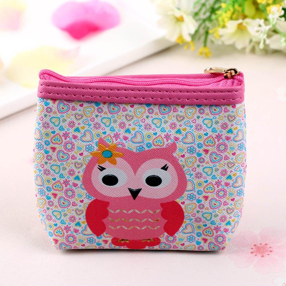Womens Owl Wallet Card Holder Coin Purse Clutch Handbag Cute cartoon pattern small wallet