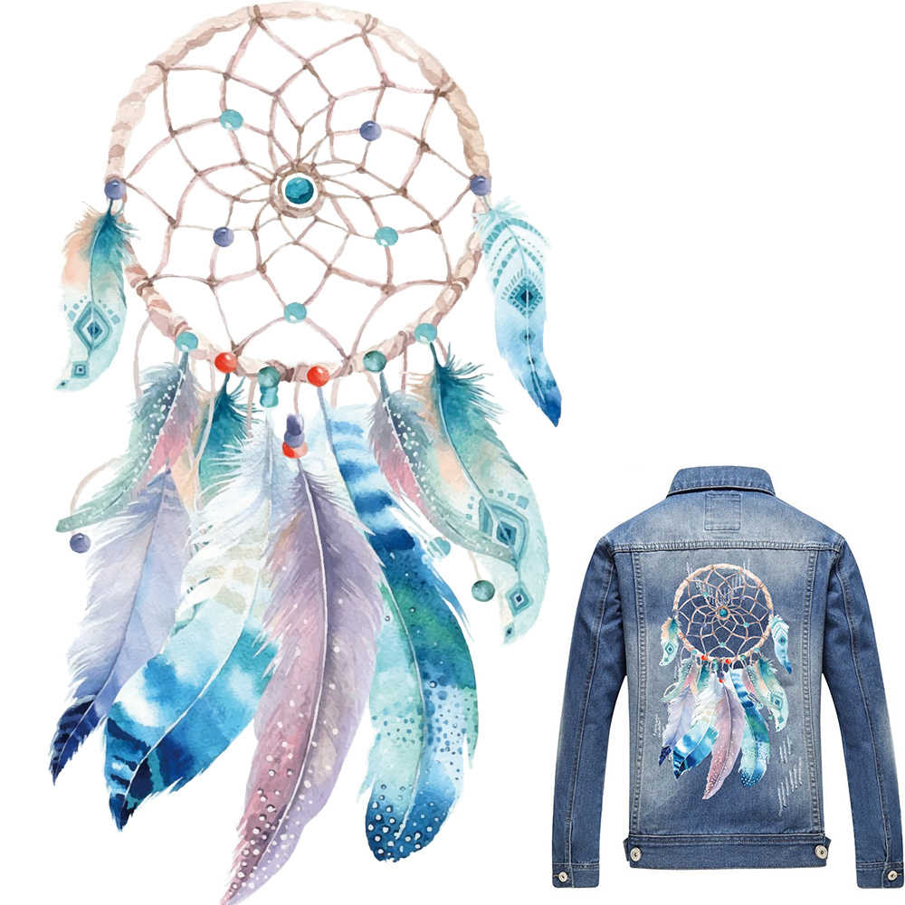 Dreamcatcher Beste Wensen Patches Ijzer Op Transfer Stickers Heat Transfers Patch Voor Kleding T-shirt Decor DIY Kleding Patches