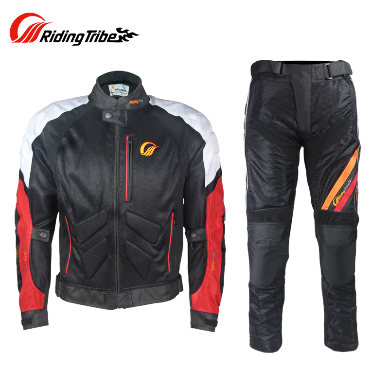 Mens Motorcycle Breathable protective Jackets &Pants protective EV protection gears Summer Jacket Moto racing Trousers
