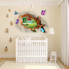 3D Wall Sticker Butterfly Removable PVC Vinyl Art Decal Home Decoration for Kids Room Floor Living Room Wall Decals Home Decor 3d bridge floor wallpapers sticker wall removable mural decals vinyl art room for living room bedroom background wall home decor