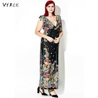 Plus Size Dresses Viscose Summer Angela Bohemian Long Maxi Boho Dress