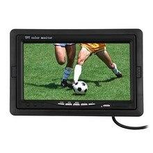 7 дюймов TFT LCD ЦВЕТНОЙ Монитор Вид Сзади Автомобиля Монитор Подголовник Парковка Заднего Вида Монитор 2 Видео Вход для DVD VCR