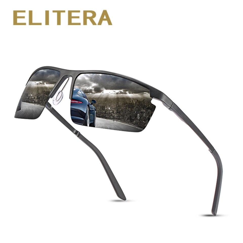 ELITERA Aluminum magnesium Men Polarized Sunglasses Fishing