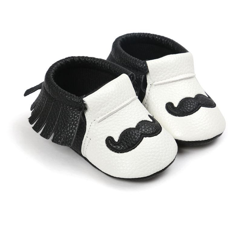 0-18 месяцев Обувь для младенцев Дети Grils Обувь для малышей осень усы узор противоскользящие мягкие на Обувь