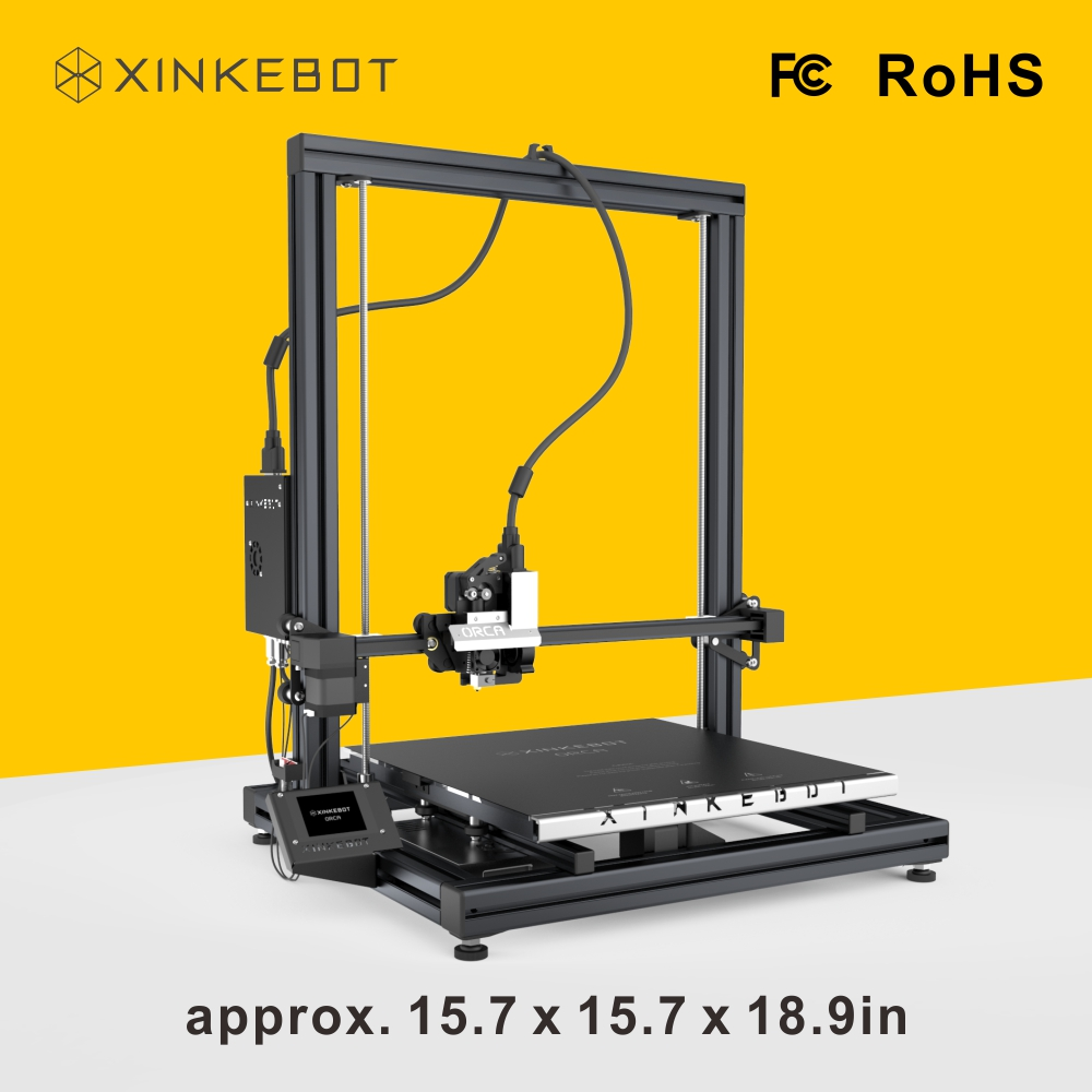 Free Shipping from China XINKEBOT Orca2 Cygnus 3D Printer with Space of 400 400 500mm Impressora
