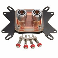 High Quality CPU Water Cooling Block Cooler Waterblock 50mm Copper Base Cool 10mm Dia Inner Channel