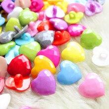 Suoja, 50 шт., 14 мм, разные цвета, хвостовик, сердце, пластиковые пуговицы, сделай сам, ремесла, детская одежда, Швейные аксессуары для одежды