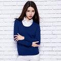 Adohon 2016 invierno de las mujeres suéteres De Cachemira y auntmun mujeres hechas punto Jerseys Alta Calidad Caliente Femenino engrosamiento de cuello Redondo