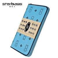 Starbagsデザイナー有名なブランドジップリアル革コイン財布女
