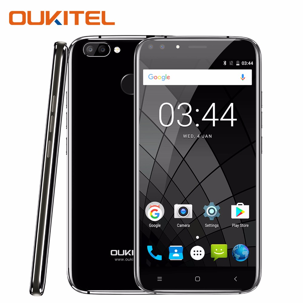 Oukitel U22 Smartphone 5.5'' HD 2 GB RAM 16GB ROM Android 7.0 Mobile Phone 720x1280 8MP 2700mAh Battery 3G Unlocked Cell Phones
