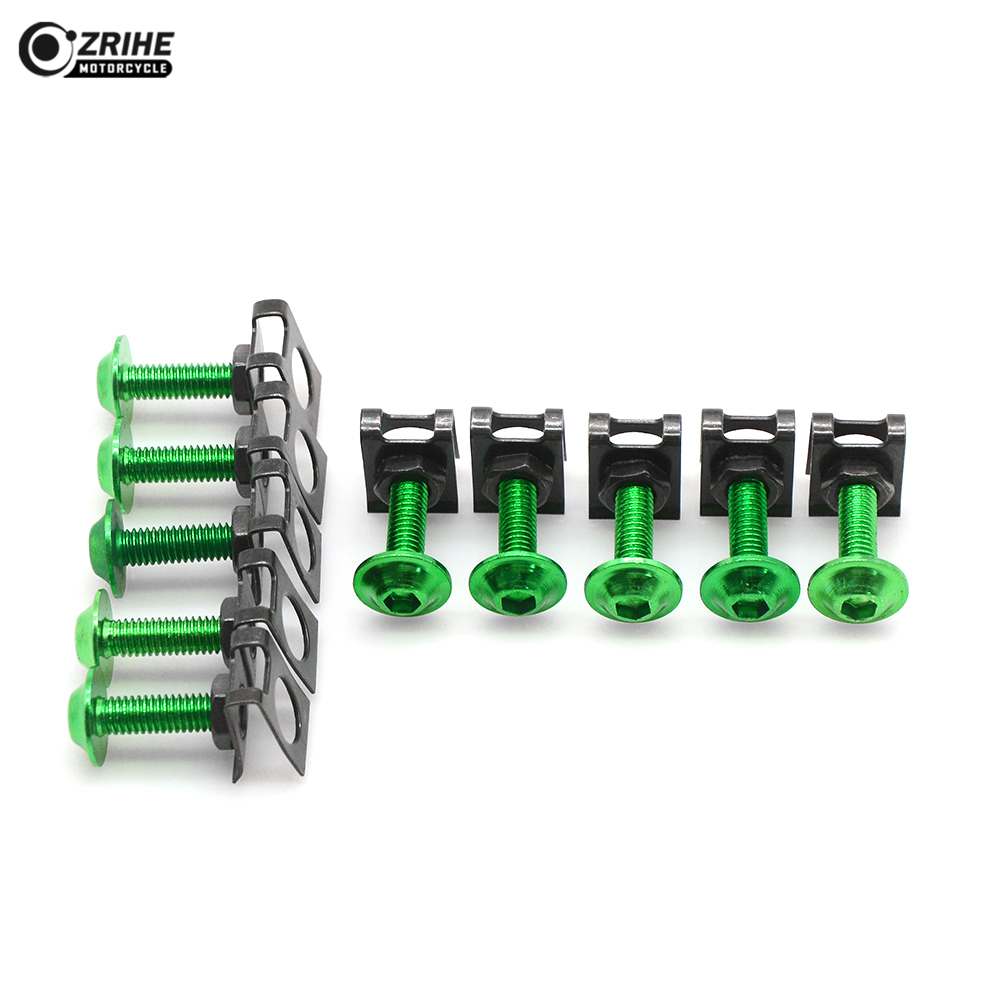 6MM 10pcs Fairing body work Bolts Screws for Yamaha MT07 2014 2015 Tmax T MAX 500 530 Z750 Universal Motorcycle Accessories